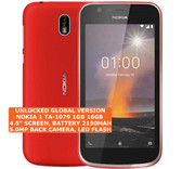 "nokia 1 ta-1079 16gb quad-core 5.0mp single sim 4.5"" android lte smartphone 4g red"