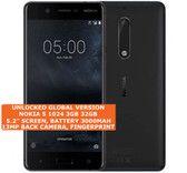 "nokia 5 1024 3gb 32gb single sim 13mp fingerprint 5.2"" android smartphone black"