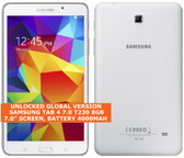 "samsung galaxy tab 4 7.0 t230 8gb quad-core 7.0"" unlocked android tablet white"