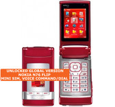 nokia n76 flip mini sim 2mp camera voice command symbian 3g mobile phone red