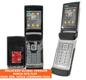 nokia n76 flip mini sim 2mp camera voice command symbian 3g mobile phone black