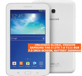 "samsung tab 3 lite 7.0 t111 8gb dual-core camera wifi 7.0"" android tablet white"