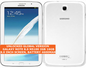 "samsung note 8.0 n5100 2gb 16gb quad-core 5.0mp wifi gps 8"" android tablet white"