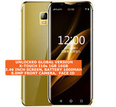 "k-touch i10s 16gb quad core 5.0mp camera face id 3.46"" android smartphone gold"