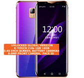 """k-touch i10s 16gb quad core 5.0mp camera face id 3.46"""" android smartphone blue"""