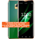 "k-touch i10s 16gb quad core 5.0mp camera face id 3.46"" android smartphone green"
