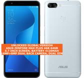 asus zenfone max plus 4gb 64gb octa core 16mp 5.7 android lte smartphone silver