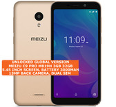 "meizu c9 pro 3gb 32gb quad-core 13mp face unlock 5.45"" android smartphone gold"