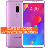 "meizu m8 4gb 64gb octa-core 12mp fingerprint 5.7"" android lte smartphone purple"