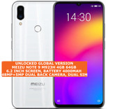 "meizu note 9 4gb 64gb octa-core 48mp fingerprint 6.2"" android 9 smartphone white"