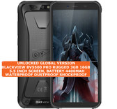 "blackview bv5500 pro rugged 3gb 16gb waterproof 8mp face id 5.5"" android black"