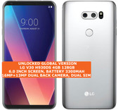 lg v30 h930ds 4gb 128gb octa-core 16mp fingerprint android smartphone lte silver