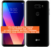 lg v30 h930ds 4gb 128gb octa-core 16mp fingerprint android smartphone lte black
