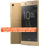 sony xperia xa1 g3226 ultra dual 4gb 64gb 23mp hdr android lte smartphone gold