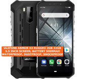 "ulefone armor x3 rugged 2gb 32gb waterproof 8mp face id 5.5"" android 9.0 silver"