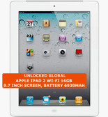 apple ipad 2 wi-fi 16gb dual-core 9.7 inch screen camera ios tablet pc white