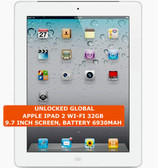apple ipad 2 wi-fi 32gb dual-core 9.7 inch screen camera ios tablet pc white