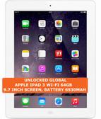 apple ipad 3 wi-fi 64gb dual-core 5.0mp camera 9.7 inch ios tablet pc white