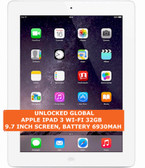 apple ipad 3 wi-fi 32gb dual-core 5.0mp camera 9.7 inch ios tablet pc white