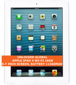 "apple ipad 4 wi-fi 16gb dual-core 5.0mp face detection 9.7"" ios tablet pc white"