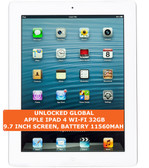 "apple ipad 4 wi-fi 32gb dual-core 5.0mp face detection 9.7"" ios tablet pc white"