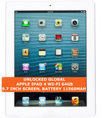 "apple ipad 4 wi-fi 64gb dual-core 5.0mp face detection 9.7"" ios tablet pc white"