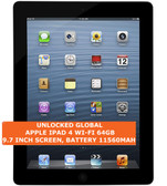 "apple ipad 4 wi-fi 64gb dual-core 5.0mp face detection 9.7"" ios tablet pc black"