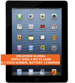 "apple ipad 4 wi-fi 16gb dual-core 5.0mp face detection 9.7"" ios tablet pc black"