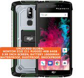 "homtom zoji z11 rugged 4gb 64gb waterproof 13mp face id 5.99"" android 8.0 green"