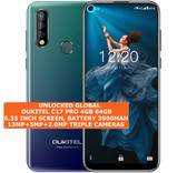 "oukitel c17 pro 4gb 64gb octa-core 13mp fingerprint 6.35"" android 9.0 lte blue"
