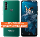 "oukitel c17 pro 4gb 64gb octa-core 13mp fingerprint 6.35"" android 9.0 green"