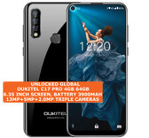 "oukitel c17 pro 4gb 64gb octa-core 13mp fingerprint 6.35"" android 9.0 black"