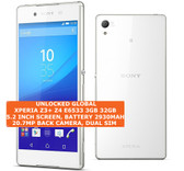 "sony xperia z3 plus z4 e6533 3gb 32gb octacore 20.7mp hdr 5.2"" android 4g white"