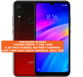 "xiaomi redmi 7 2gb 16gb octa-core 12mp face unlock 6.26"" android smartphone red"