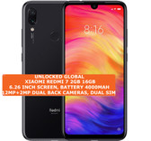 "xiaomi redmi 7 2gb 16gb octa-core 12mp face unlock 6.26"" android smartphone black"