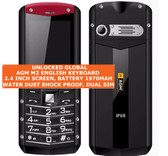 agm m2 english keyboard water shock dustproof flashlight fm dual sim mobile red