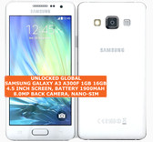 samsung galaxy a3 a300f 16gb quad-core 8mp camera 4.5 android smartphone 4g white