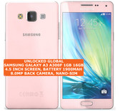 samsung galaxy a3 a300f 16gb quad-core 8mp camera 4.5 android smartphone 4g pink