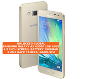 samsung galaxy a3 a300f 16gb quad-core 8mp camera 4.5 android smartphone 4g gold
