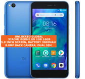 "xiaomi redmi go 16gb quad core 8.0mp camera 5.0"" android 8.0 oreo smartphone blue"