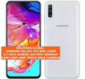 "samsung galaxy a70 8gb 128gb octa-core 32mp fingerprint 6.7"" android lte white"