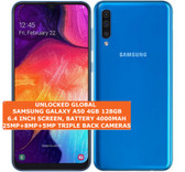 "samsung galaxy a50 4gb 128gb octa-core 25mp face unlock 6.4"" android lte blue"