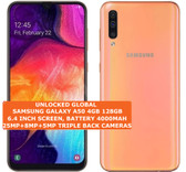 "samsung galaxy a50 4gb 128gb octa-core 25mp face unlock 6.4"" android lte orange"