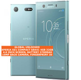 "sony xperia xz1 compact g8441 4gb 32gb 19mp fingerprint 4.6"" android phone blue"