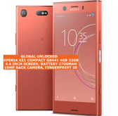 "sony xperia xz1 compact g8441 4gb 32gb 19mp fingerprint 4.6"" android phone pink"