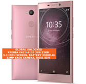 "sony xperia xa2 h4133 3gb 32gb octa-core 23mp dual sim 5.2"" android lte pink"