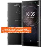 "sony xperia xa2 h3113 3gb 32gb octa-core 23mp fingerprint 5.2"" android 4g black"