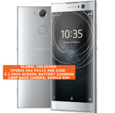 "sony xperia xa2 h3113 3gb 32gb octa-core 23mp fingerprint 5.2"" android 4g silver"
