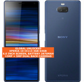 "sony xperia 10 i3113 3gb 64gb octa-core 13mp fingerprint 6.0"" android lte blue"
