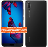 huawei p20 eml-l29 6gb 128gb octa core 20mp face id 5.8 android smartphone black
